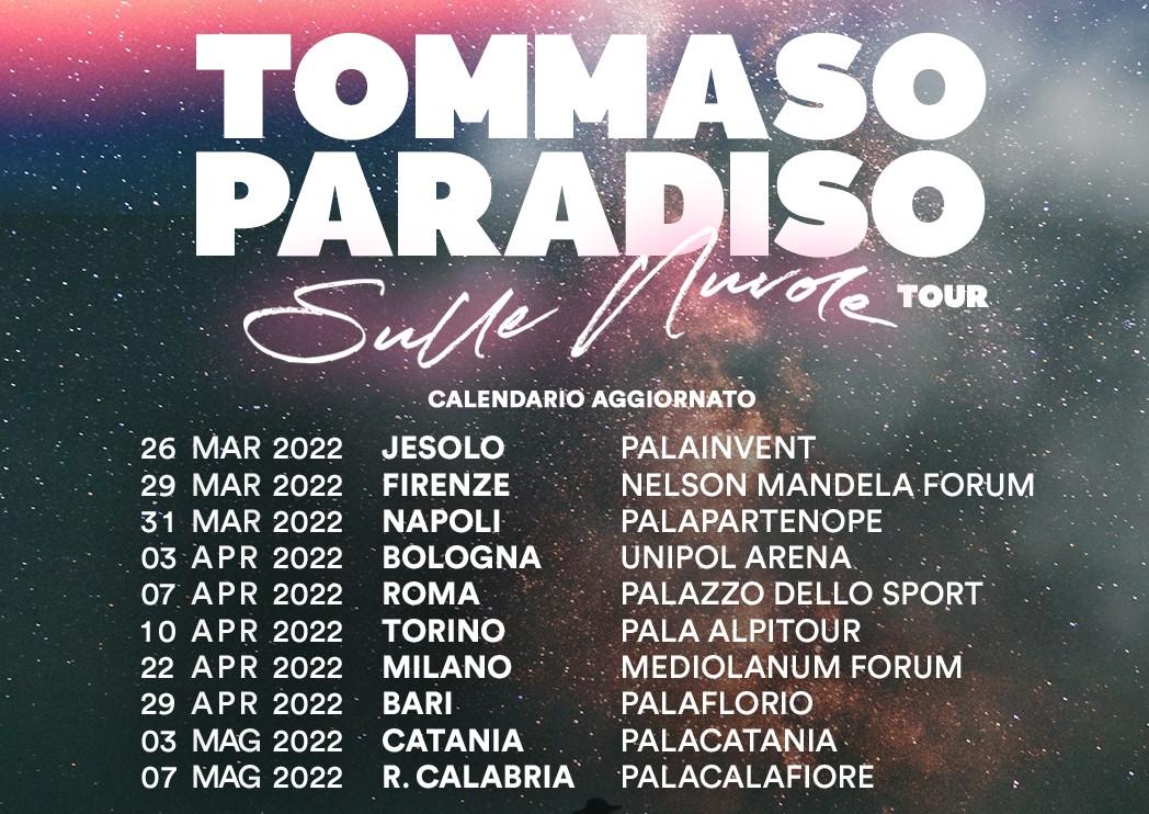 Sulle Nuvole Tour di Tommaso Paradiso, le nuove date del tour che slitta al 2022