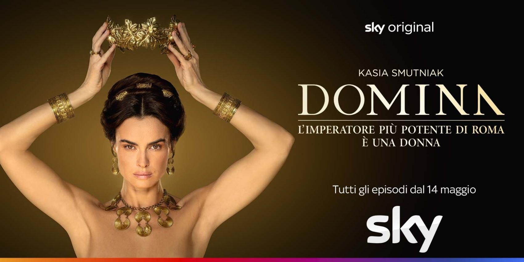 Serie tv Domina trama e cast, Kasia Smutniak è Livia Drusilla, moglie di Gaio Ottaviano