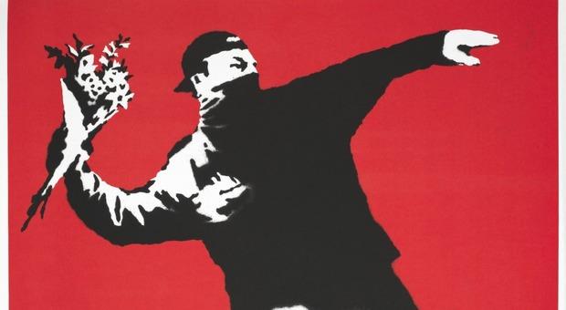 Mostra Roma - Chiostro del Bramante  - Banksy A Visual  Protest, - immagini