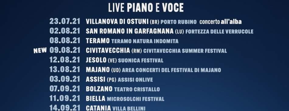 Michele Bravi, nuova data del tour estivo  al Civitavecchia Summer Festival