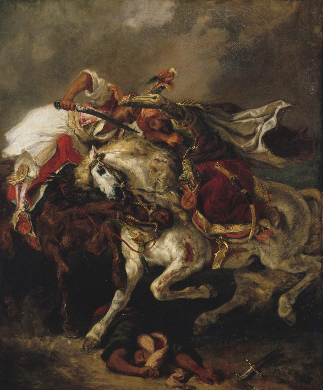 Mostra Parigi - Louvre -  Un duel romantique Le Giaour de Lord Byron par Delacroix - immagini